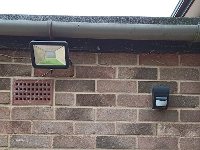security light fitted with PIR sensor.