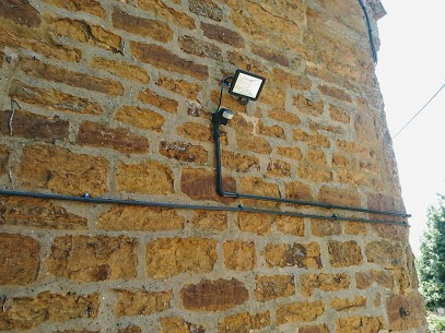 outdoor security light fitted with PIR sensor.
