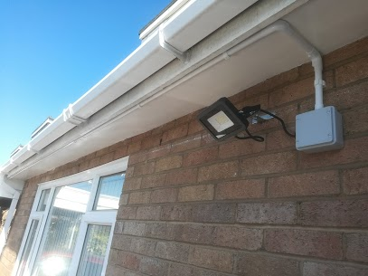 nice conduit outdoor light system fitted