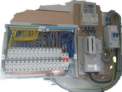 Our electrical contractors can fix it, install it. call today.